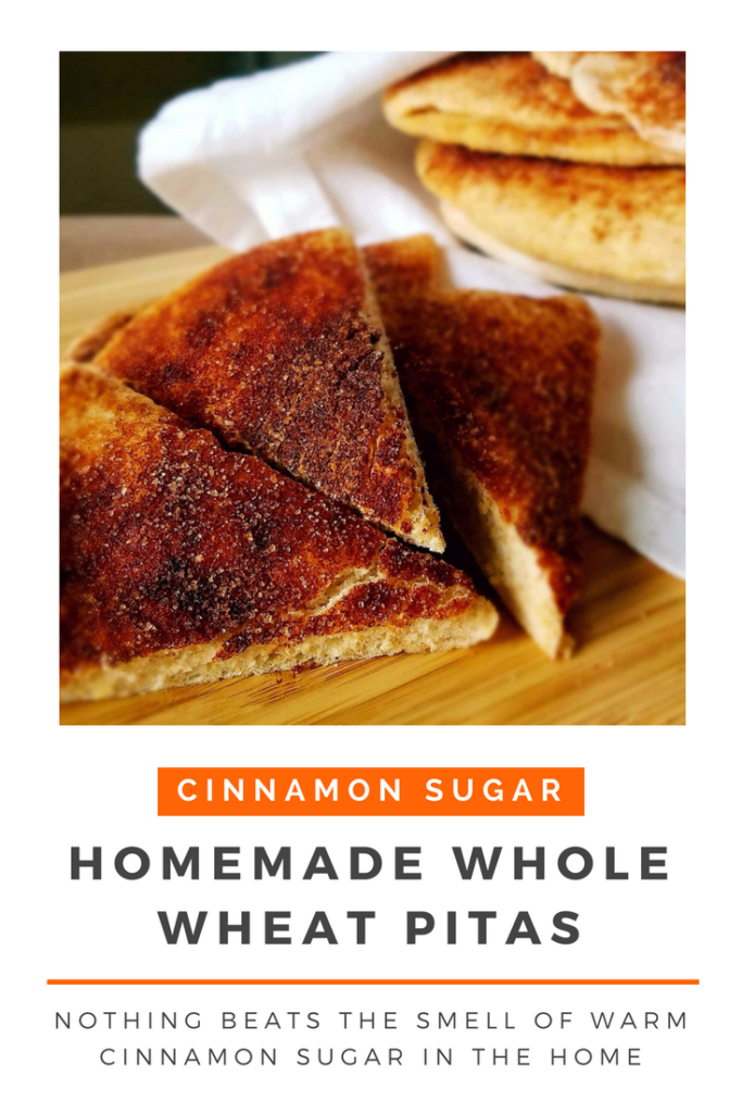 Perfectly fluffy homemade cinnamon sugar pitas are a tasty and healthy snack to serve your family and friends.