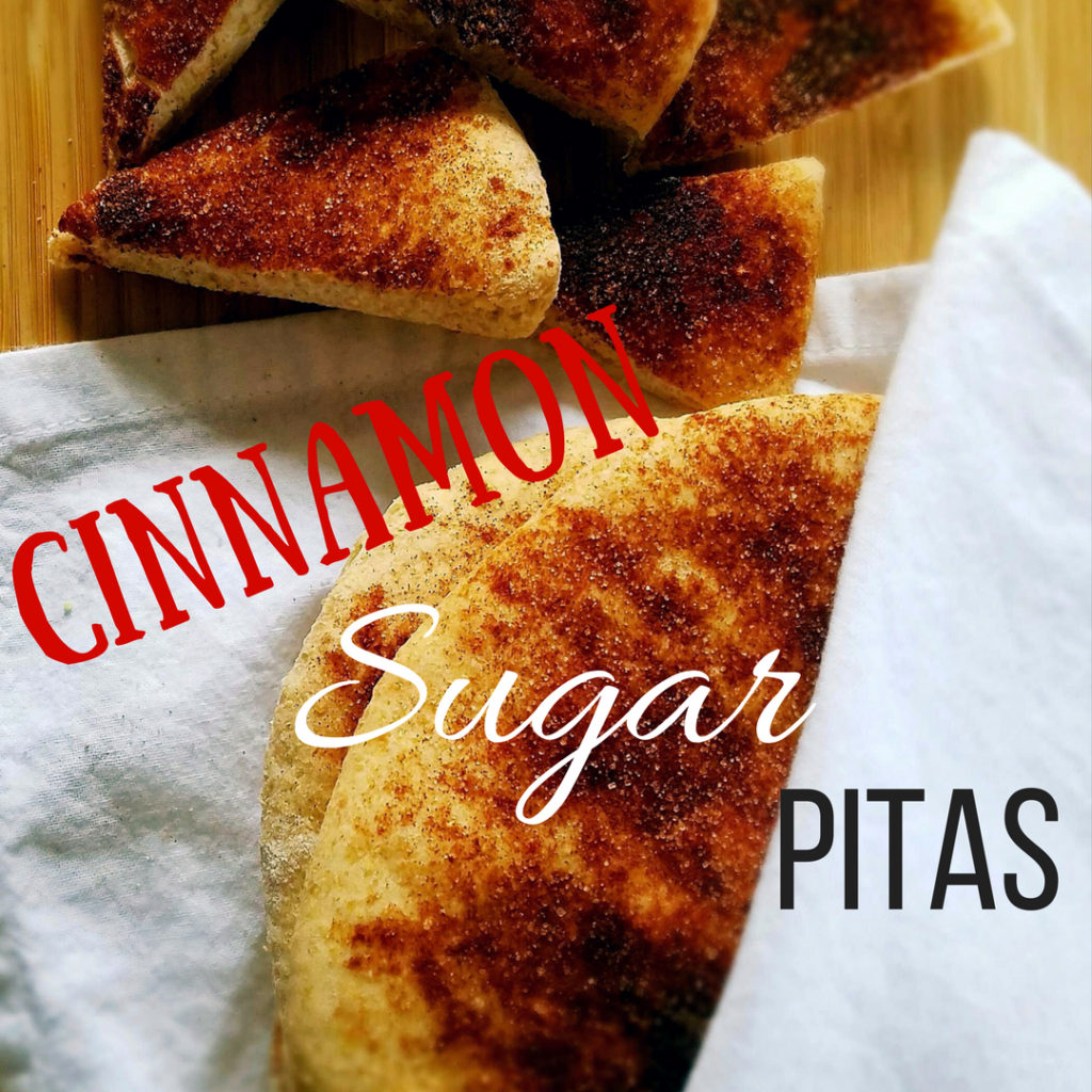 A simple, homemade, cinnamon sugar pita that takes less than a half an hour of your time to make in your food processor or stand mixer.