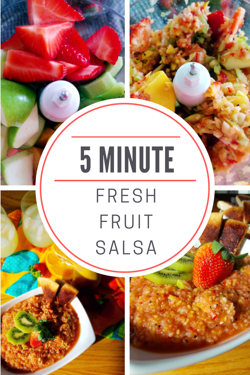Make this fresh fruit salsa {in only 5 minutes!} for your next summertime picnic or get-together.