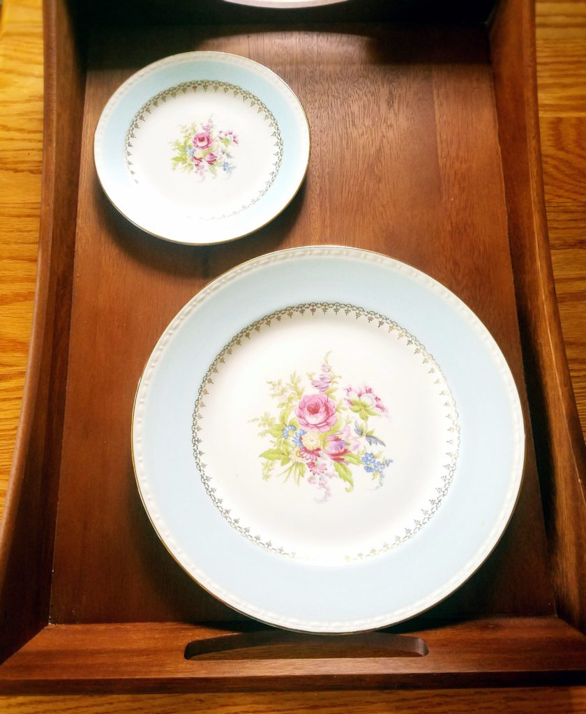 Beautiful plates from my great grandmother that had been passed down from my grandma.
