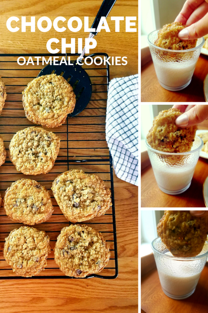 Chocolate chip oatmeal cookies recipe. Easy | Simple | Delicious