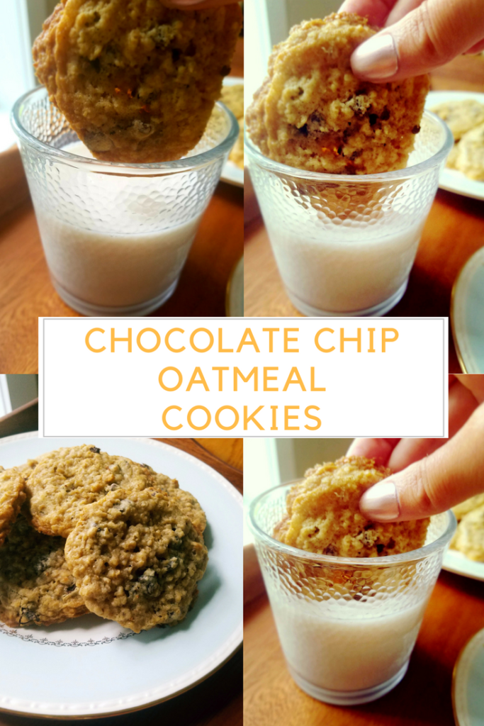 Chocolate chip oatmeal cookie recipe. Easy | Simple | Delicious
