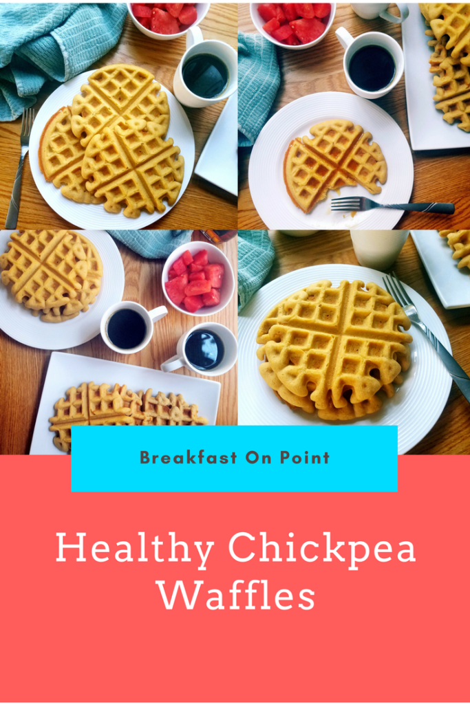 Up your breakfast game with these good-for-you healthy waffles. The waffle recipe is super easy and can be whipped up in under 10 minutes.
