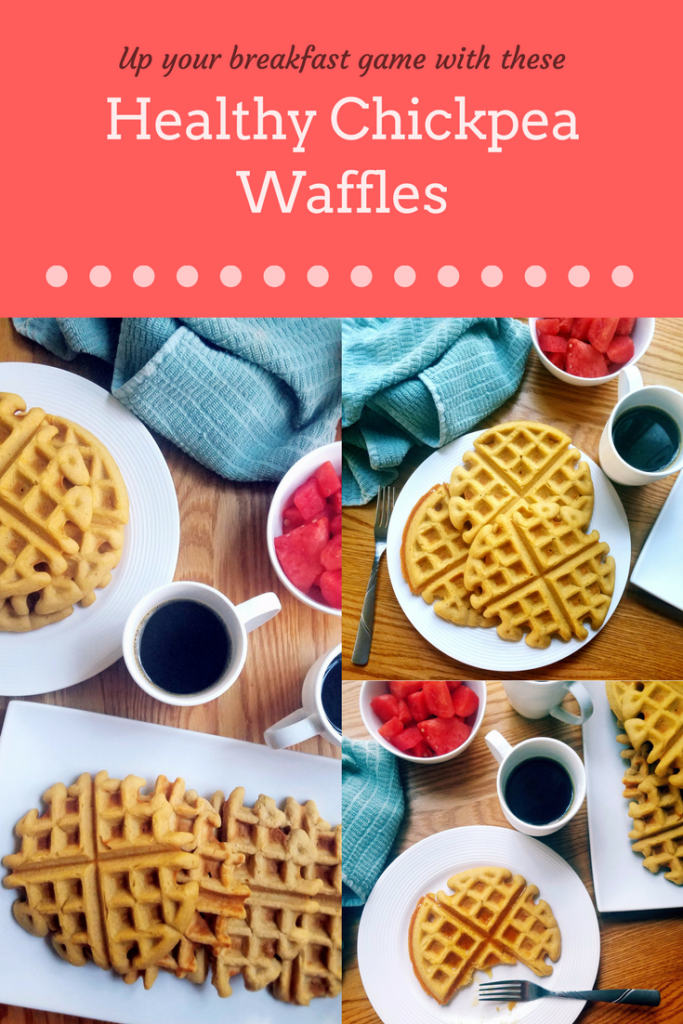 These healthy homemade chickpea waffles taste even better than your regular waffles. Give them a try, you won't be disappointed!