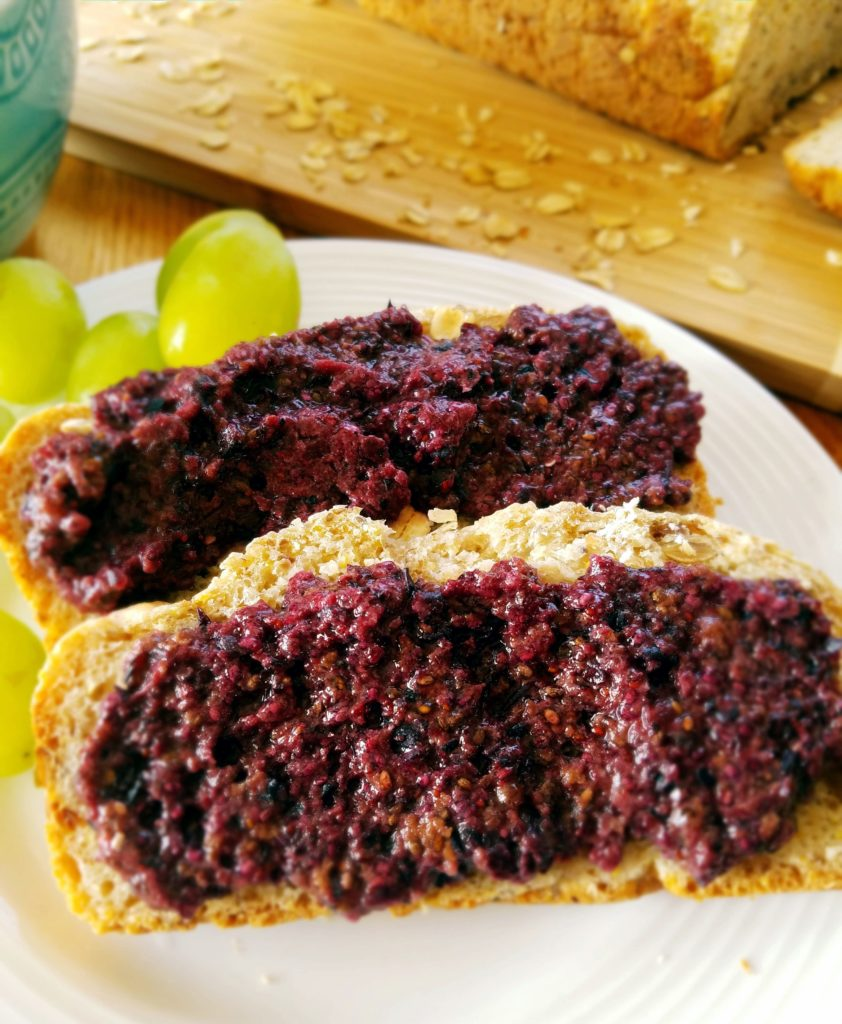 Homemade blueberry chia seed jam recipe only takes 5 minutes to make!