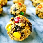 Trail mix energy bites are gluten free, packed with protein, easy to make and are a healthy snack after a long workout.
