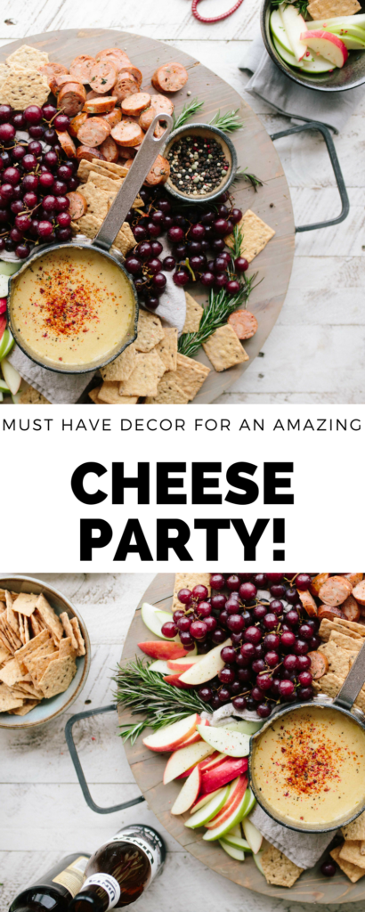 A simple list of your must have cheese decor for hosting an amazing cheese party. Plus each piece is under $30!