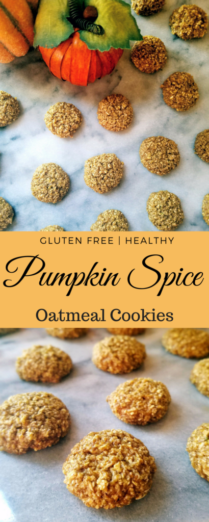 Mini pumpkin spice oatmeal cookies are gluten free and healthy. They're also full of all of the flavors of fall you know and love.
