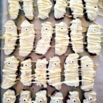 Mummy biscotti is a fun Halloween treat that's also gluten free and healthy.