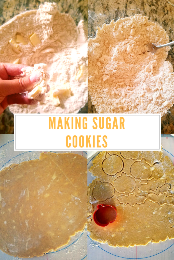 Making sugar cookies from scratch is not difficult. The difficult part comes when you must chill the pumpkin spice dough before rolling and cutting. Click to see how to make sugar cookies from scratch.