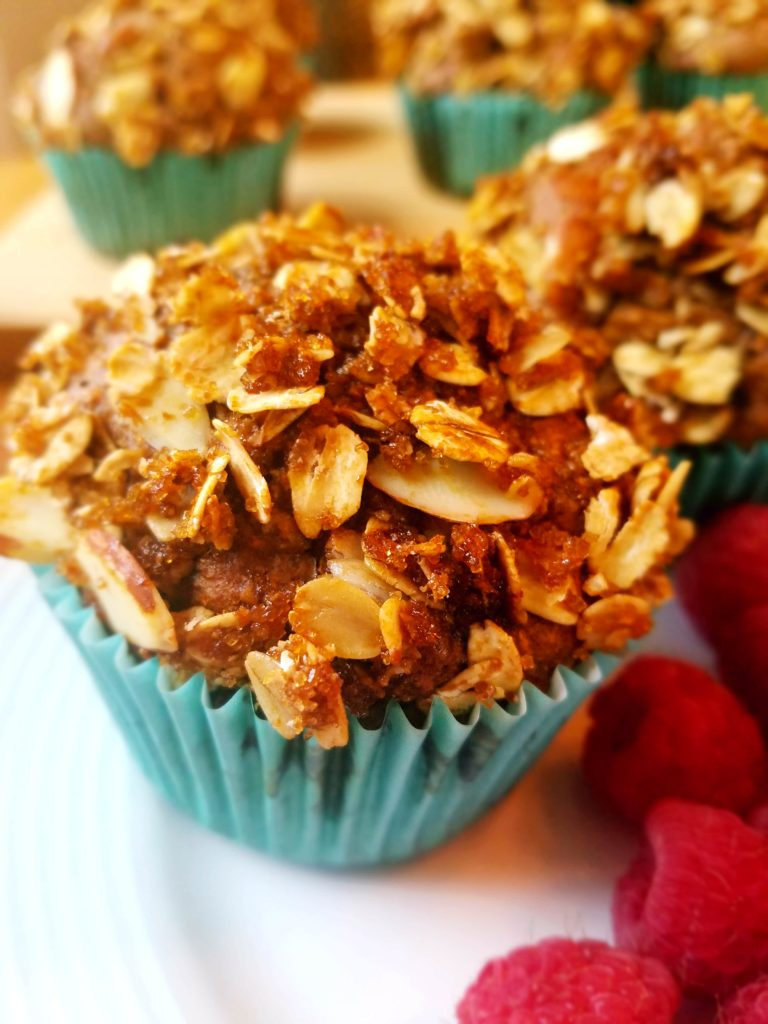 Sweet Potato Apple Muffins. These healthy, clean eating, low sugar muffins are packed full of cinnamon, allspice and cloves. Making them the perfect way to start your morning. They're also great for meal prep and freezing. The almond crumble is to die for!