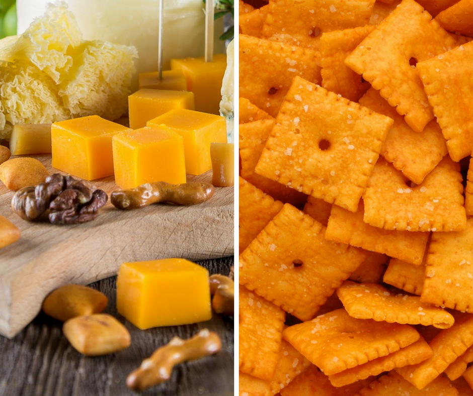 Cheese and crackers are an easy, healthier, snack to pack for long car rides. Pick crackers that are whole grain for a healthier alternative to the fried chips.