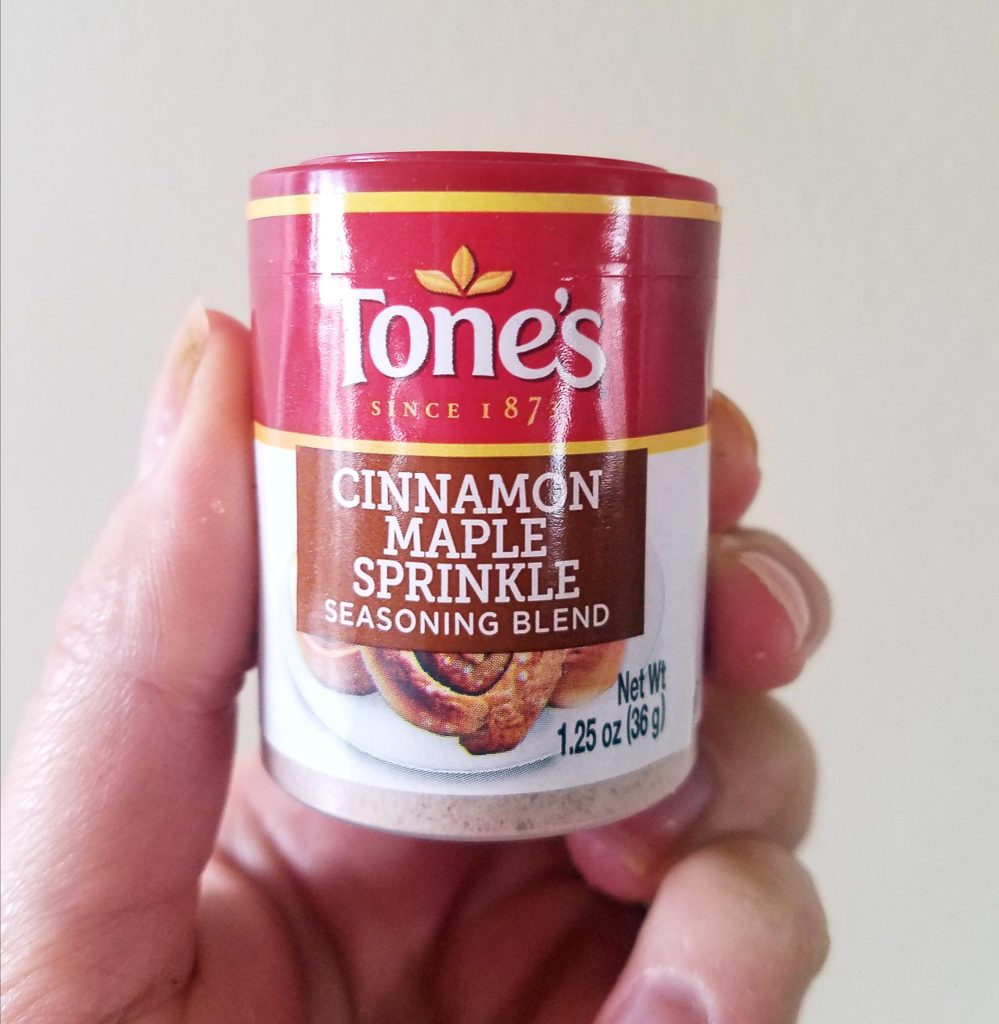 Tone's cinnamon maple sprinkle lends the perfect sweetness to these gluten free maple pecan cookies.