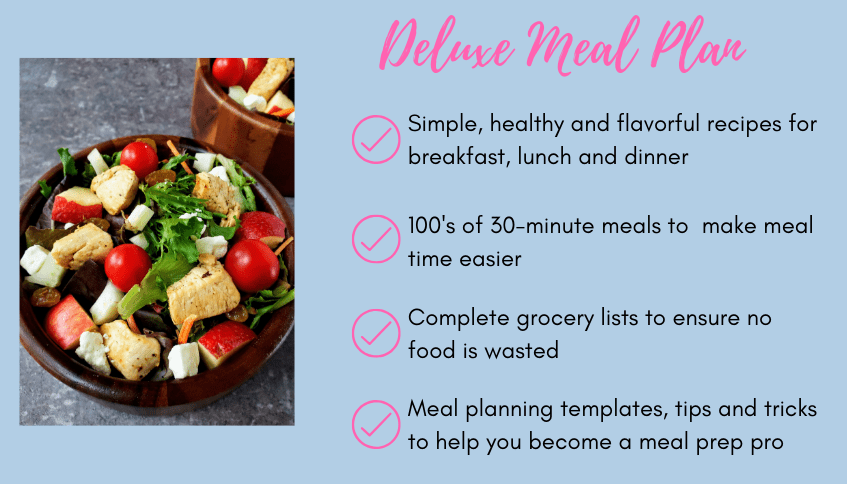 deluxe meal plan: what you get