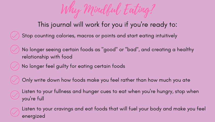 why mindful eating. a list of reasons why you should try mindful eating