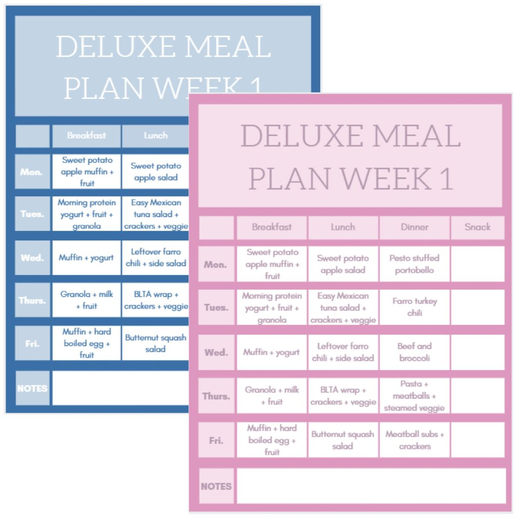 how to meal plan with meal planning templates