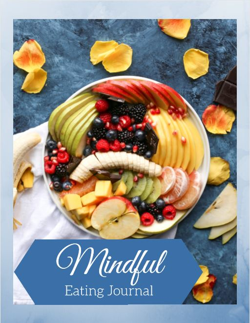 mindful eating journal cover page