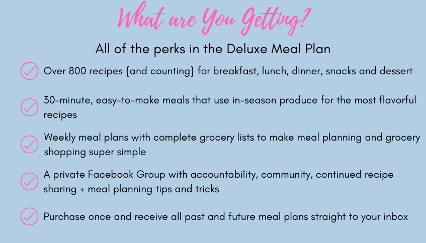 what you're getting deluxe meal plan