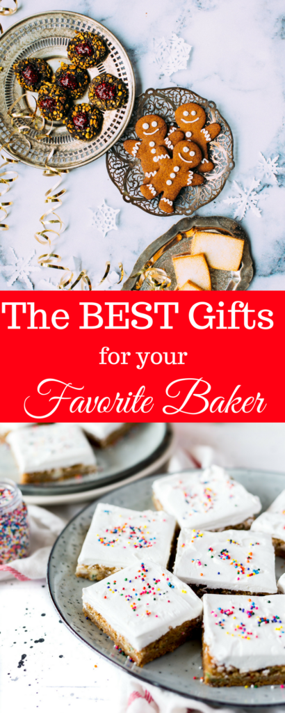 If you're still searching for the perfect gift, check out these 15 must have gifts for your favorite baker. This gift guide has every gift she could ever want to bake with. #holidays #gifts #giftguide #baking