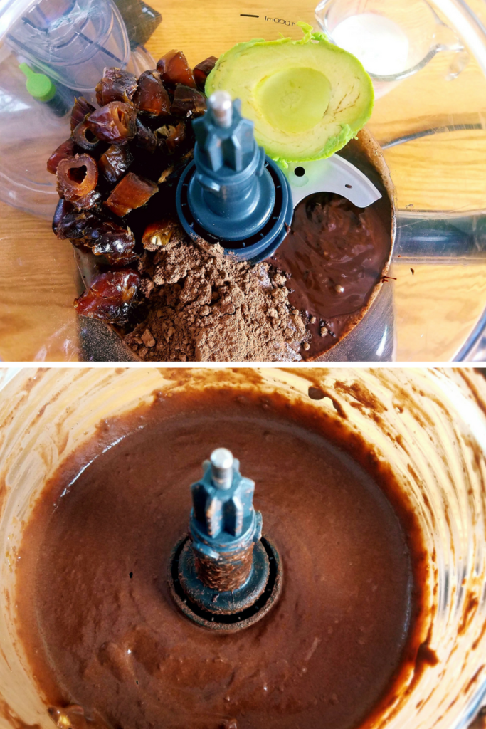 Vegan chocolate pudding is super simple to make and only requires a food processor. It's made with avocado, dates, cocoa and dark chocolate. Plus almond milk for a smooth finish. Make this gluten free, dairy free, healthy chocolate pudding today. #vegan #healthydessert #chocolate