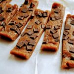 Peanut butter chocolate chip copycat Larabars are really easy to make at home. Only three ingredients to make vegan, gluten free, healthy snack that is less expensive than buying Larabars from the store. #healthysnacks #healthybars #copycat