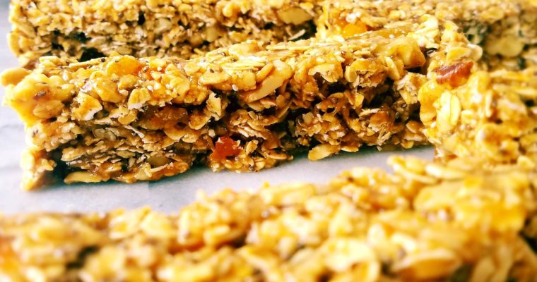 Apricot Walnut Granola Bars