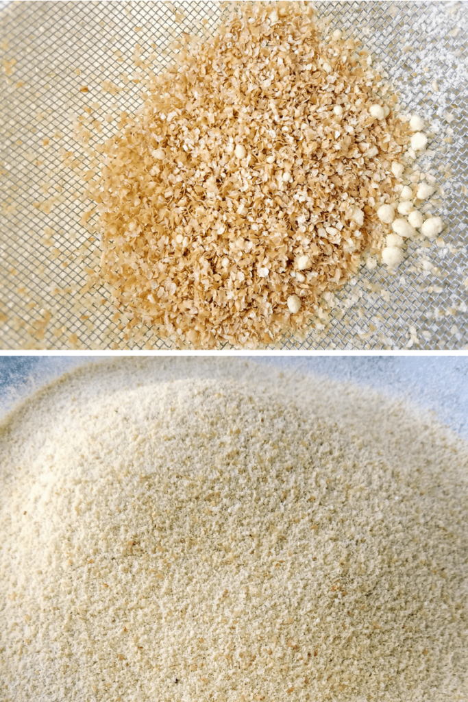 sifted almond and whole wheat flour
