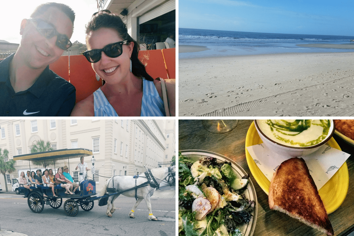 piece of cake 003: me and burken, horse drawn carriage, beach, salad and soup