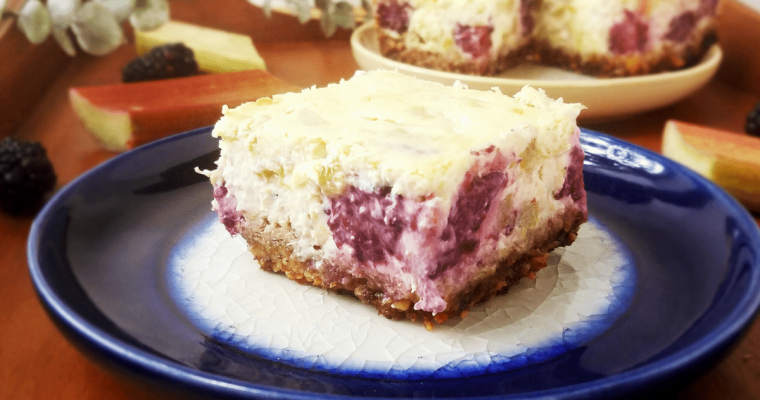Gluten Free Rhubarb Cheesecake Bars