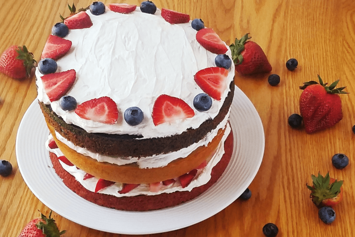 Healthy Berry Layer Cake