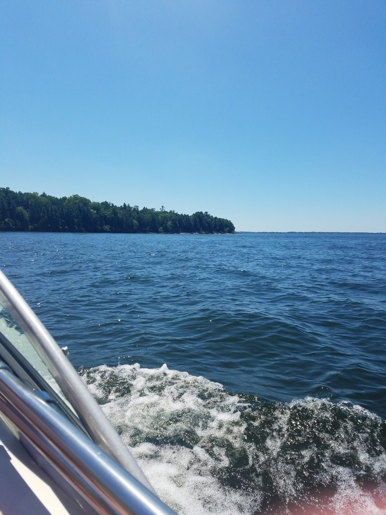 boating on the water