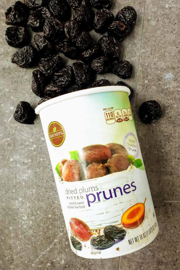 canister of prunes