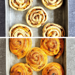 pre-baked and baked apple pie cinnamon rolls-min