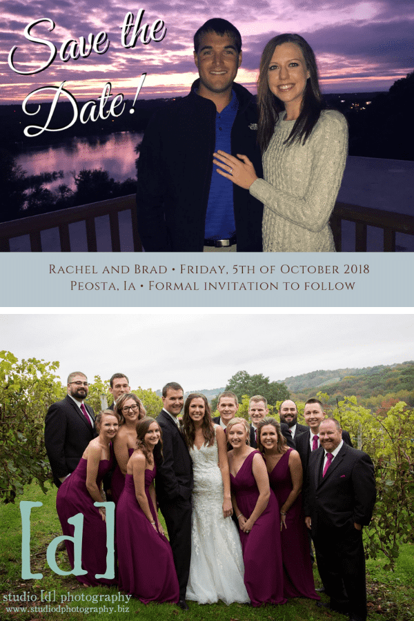 brad and rachel's wedding and save the date-min
