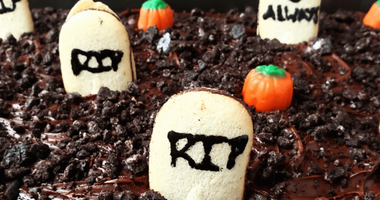Easy Chocolate Graveyard Cake