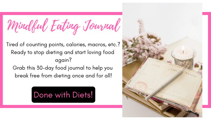 mindful eating journal shop button