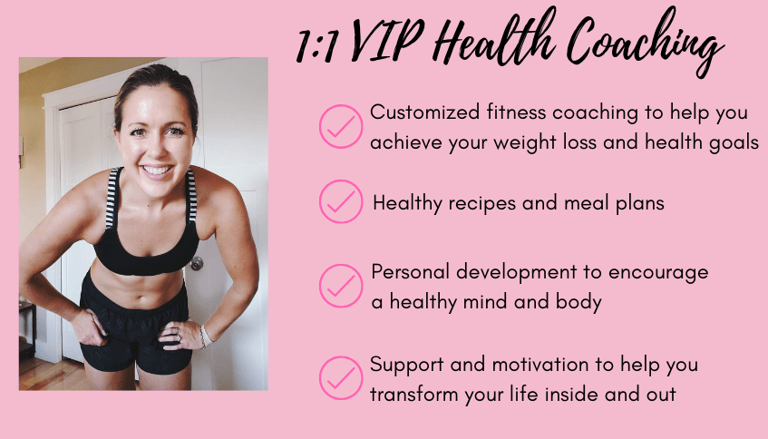 1:1 vip health and fitness coaching