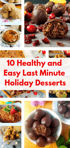 Looking for healthy desserts that you can whip up in no time for the holidays? Check out these 10 healthy and easy holiday dessert recipes. #holidaydesserts #healthydesserts #easydessertrecipes #easyholidayrecipes #christmasdesserts