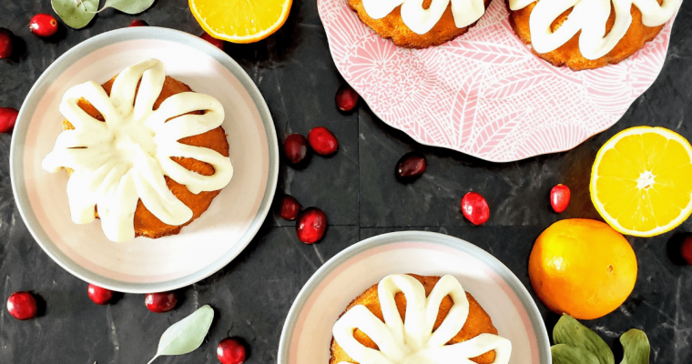 Mini Cranberry Orange Bundt Cakes