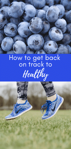 Getting back on track and finding a healthy routine can be tough. But follow these 5 easy steps to help you get back on track with your health and fitness routine. Plus, get a free 30-day health calendar to help get you back on track. #healthylifestyle #healthhelp #fitnesshelp #healthtips #fitnesstips #gettingbackontrack