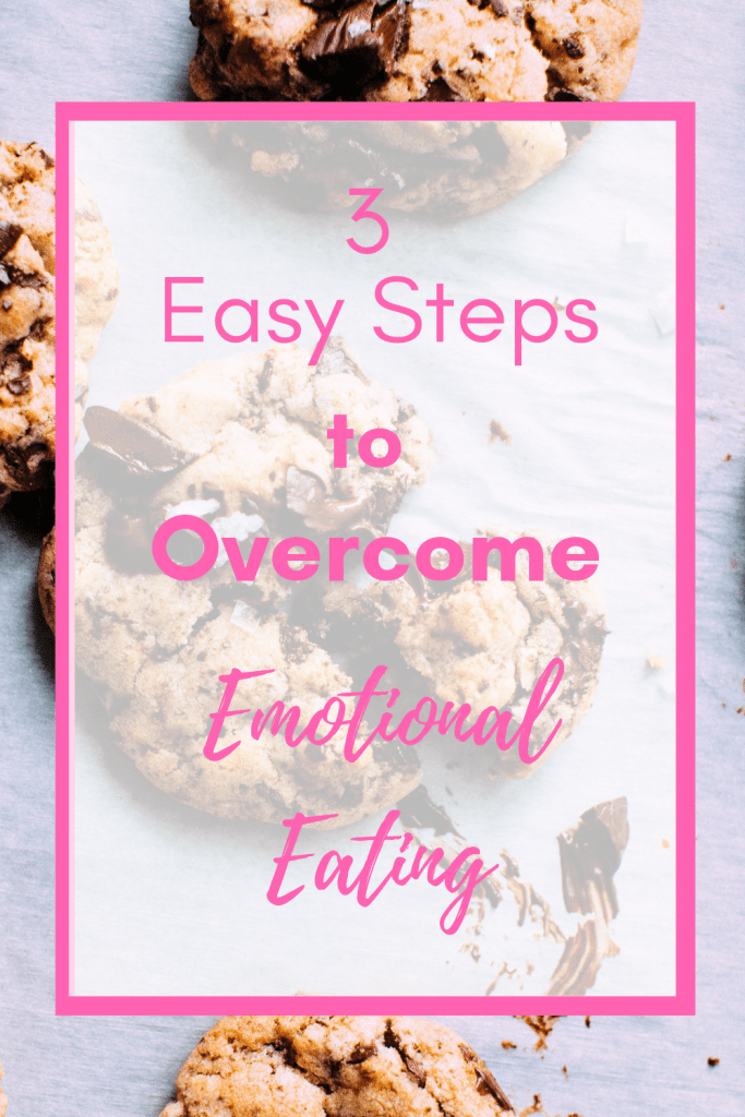 Are you a stress eater? Or do you eat when you're bored? Follow these three simple tips to help you stop emotional eating, let go of your ties to food and regain control of your life. #healthylifestyle #weightloss #emotionaleatertips #intuitiveeating #mindfuleating