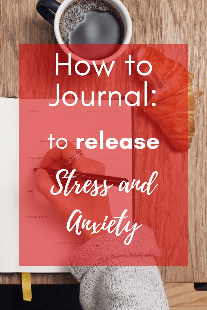 How to journal: 5 key steps to help you release stress and anxiety from your life through a journal. Release negative thoughts through journaling prompts. #journaling #intentions #journalingprompts #howtogetridofstress