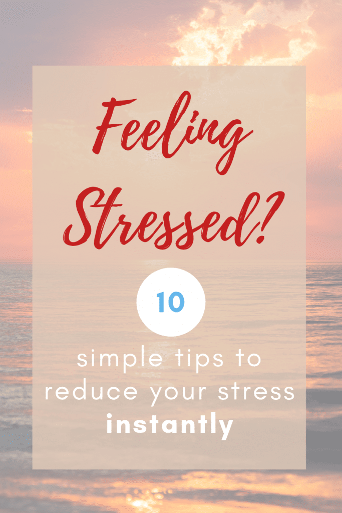 Follow these ten simple tips for dealing with stress. Whether it's stress at work, stress with kids, your growing to-do list. Use these tips to help deal with the stress of everyday life. #streefree #dealingwithstress #howtodealwithstress #stressrelief