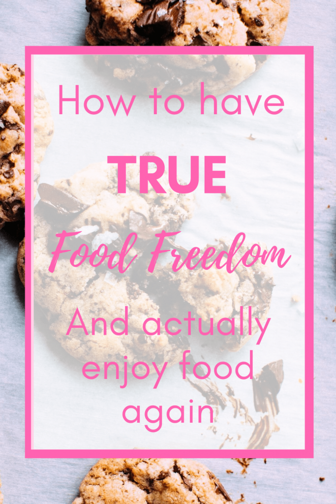 Are you ready to experience true food freedom? To stop dieting or having to follow plans like Weight Watchers, keto, paleo, macros, you name it? Intuitive eating can help you do just that! #foodfreedom #mindfuleating #mindfuleatingmotivation #intuitiveeatingforbeginners