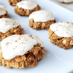 plate of pumpkin oatmeal cookies