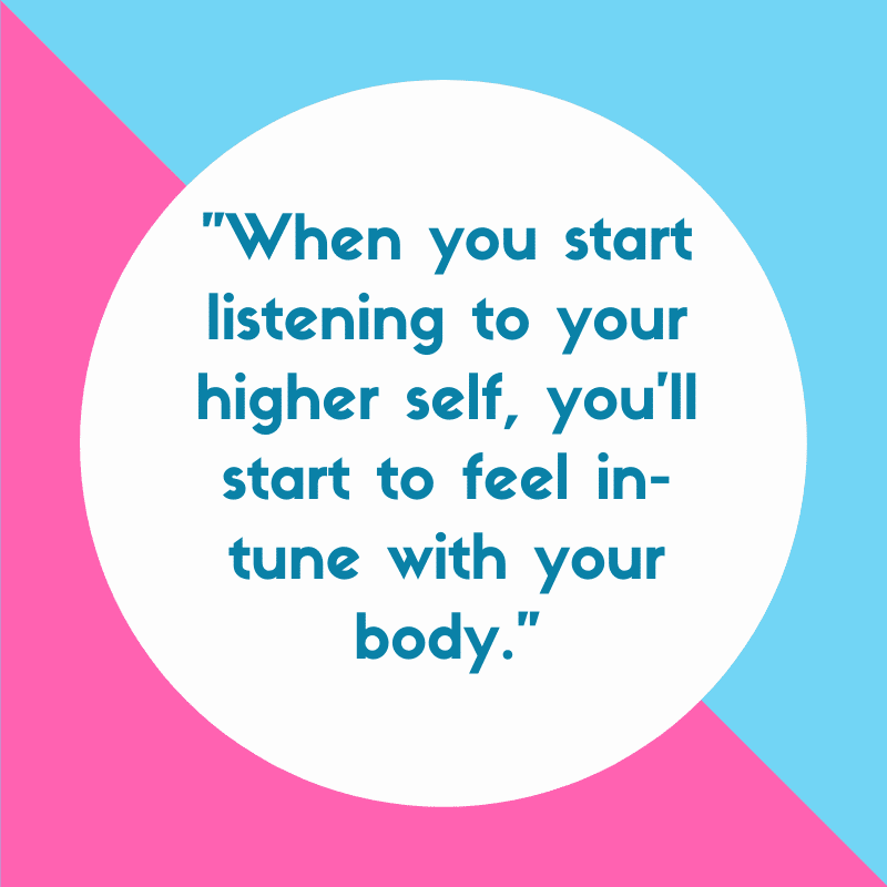 listening to your higher self quote