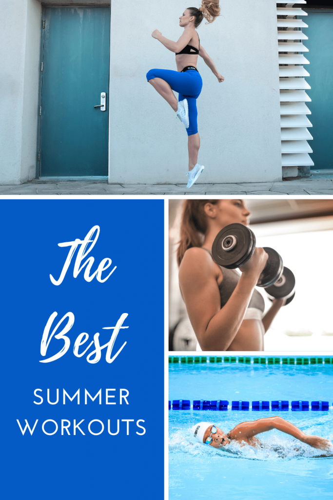 The best summer workouts. Six ideas to get yourself outside and in-shape in the summer. Getting fit this summer. #summerbody #summerworkouts #outdoorworkoutideas #workingoutoutside