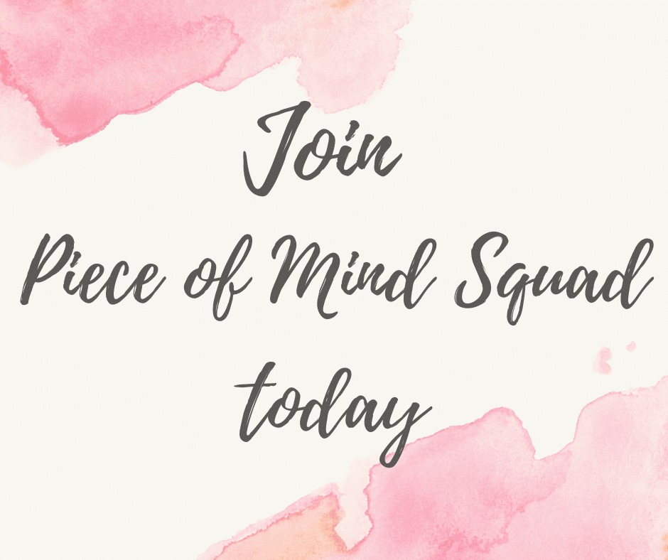 join piece of mind squad with a watercolor background