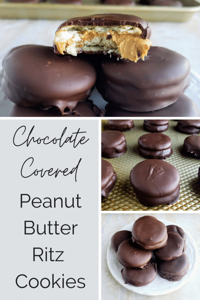 Sweet, salty, buttery and chocolatey, these Ritz cracker peanut butter chocolate-covered cookies are the treat you've been dreaming of! With just four ingredients and no baking, they're super-easy and great fun to make with children. Chocolate peanut butter Ritz cookies require no baking and just three ingredients. #christmasrecipe #holidaydesserts #simplerecipe #easydessertideas #easyholidaydesserts #sweetandsaltydessert