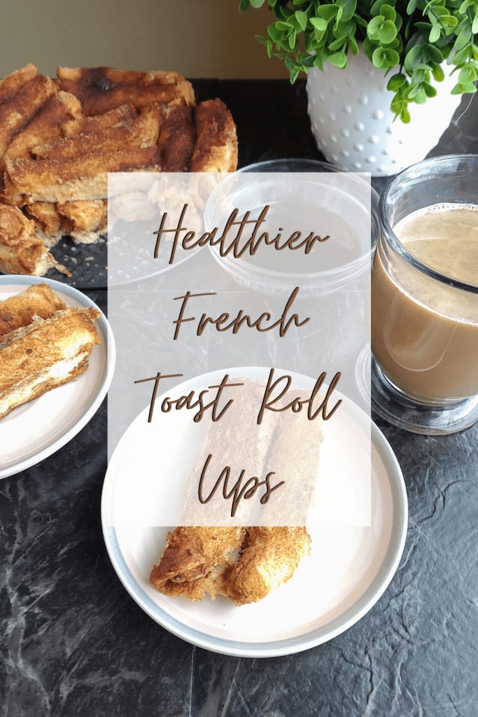 These healthier French toast roll ups are a fun take on traditional French toast. This easy, kid friendly breakfast also makes for the perfect brunch recipe. #brunchideas #frenchtoast #breakfastrecipes #easybreakfastrecipe #healthierbreakfastideas